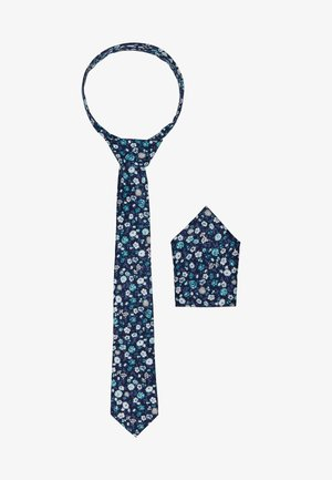 ONSTBOX TIE & HANKERCHIEF SET - Kapesník do obleku - dark blue/mint