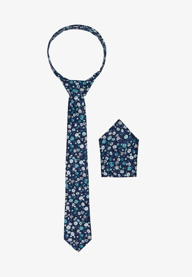 ONSTBOX TIE & HANKERCHIEF SET - Mouchoir de poche - dark blue/mint