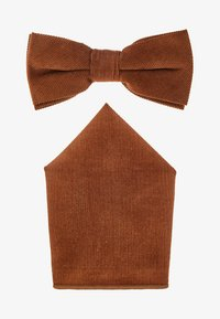 Only & Sons - ONSTBOX THEO BOW TIE HANKERCHIEF SET - Pocket square - cognac - 1
