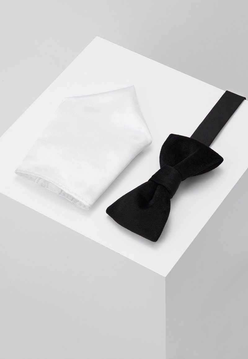 Only & Sons - ONSTBOX THEO BOW TIE HANKERCHIEF SET - Mouchoir de poche - black/white