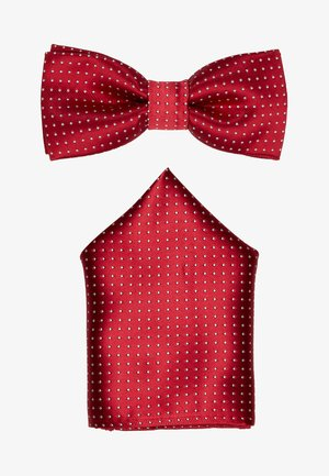 ONSTBOX THEO TIE SET - Taskuliina - pompeian red/white