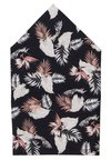Only & Sons - ONSTBOXTIE HANKERCHIEF FLOWER SET - Mouchoir de poche - black/brown leaf