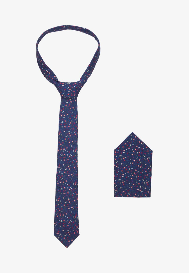 Only & Sons - ONSTBOX FLOWER TIE SET - Pañuelo de bolsillo - dark navy/flower