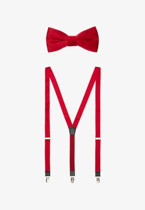 ONSTBOX TERRY BOW TIE & HANKERCHIEF SET - Bow tie - bright red