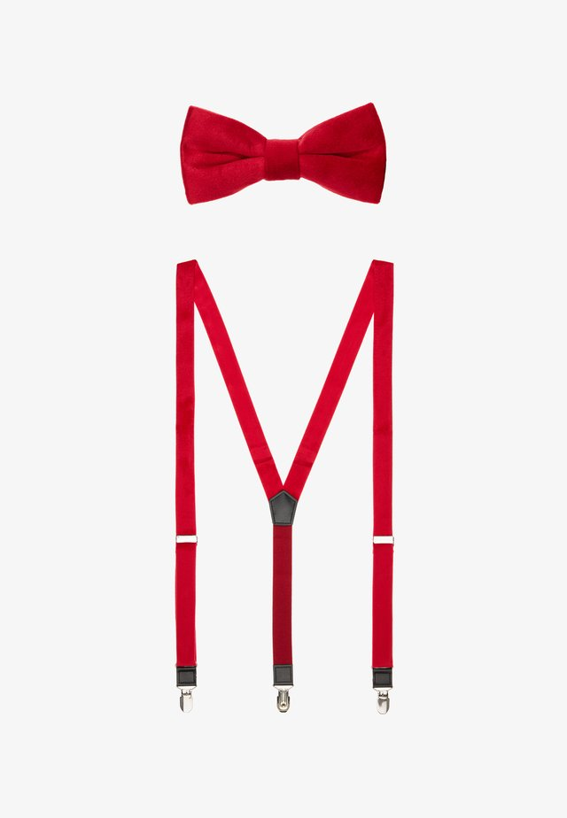ONSTBOX TERRY BOW TIE & HANKERCHIEF SET - Mucha - bright red