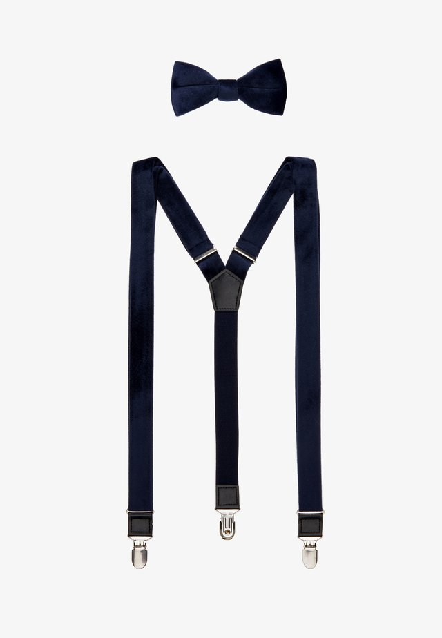 ONSBOWTIE SUSPENDER SET - Riem - navy