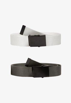 ONSCANVAS LONG BELT 2 PACK - Cintura - white/pewter grey