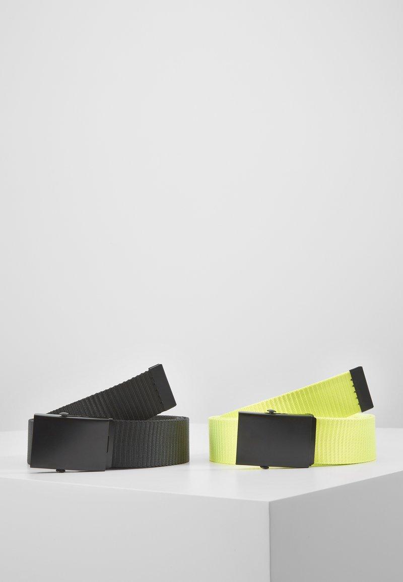 Only & Sons - ONSCANVAS LONG BELT 2 PACK - Belt - black/neon yellow