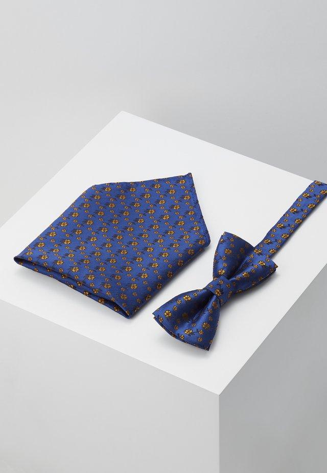ONSTODD BOW TIE BOX SET - Mouchoir de poche - baleine blue/yellow