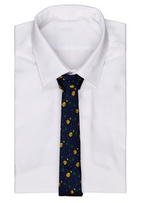 Only & Sons - ONSTODD TIE BOX SET - Kapesník do obleku - dark navy/yellow flowers - 2
