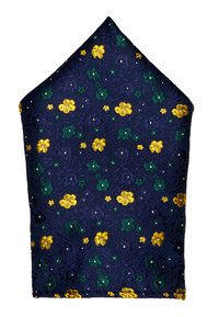 Only & Sons - ONSTODD TIE BOX SET - Kapesník do obleku - dark navy/yellow flowers - 1