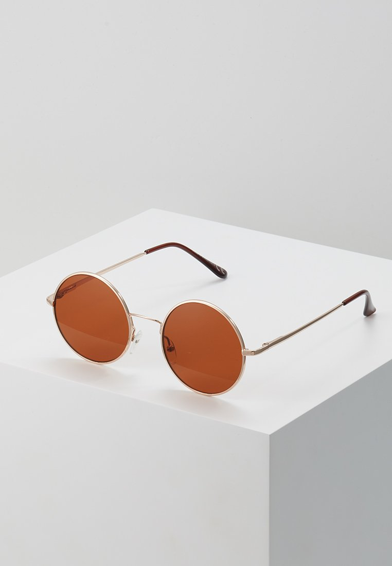 Only & Sons - ONSSUNGLASSES ROUND - Zonnebril - mustard gold-coloured