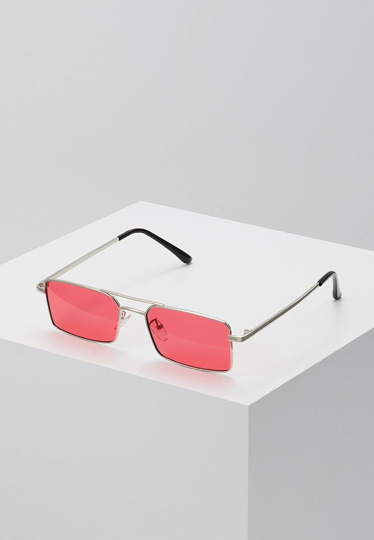 Only & Sons - ONSSUNGLASSES BOX - Lunettes de soleil - shiny silver-coloured/red