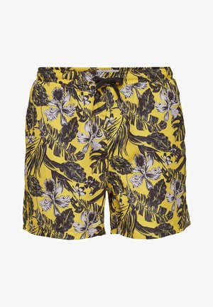 SHORTS BEDRUCKTE - Swimming shorts - misted yellow