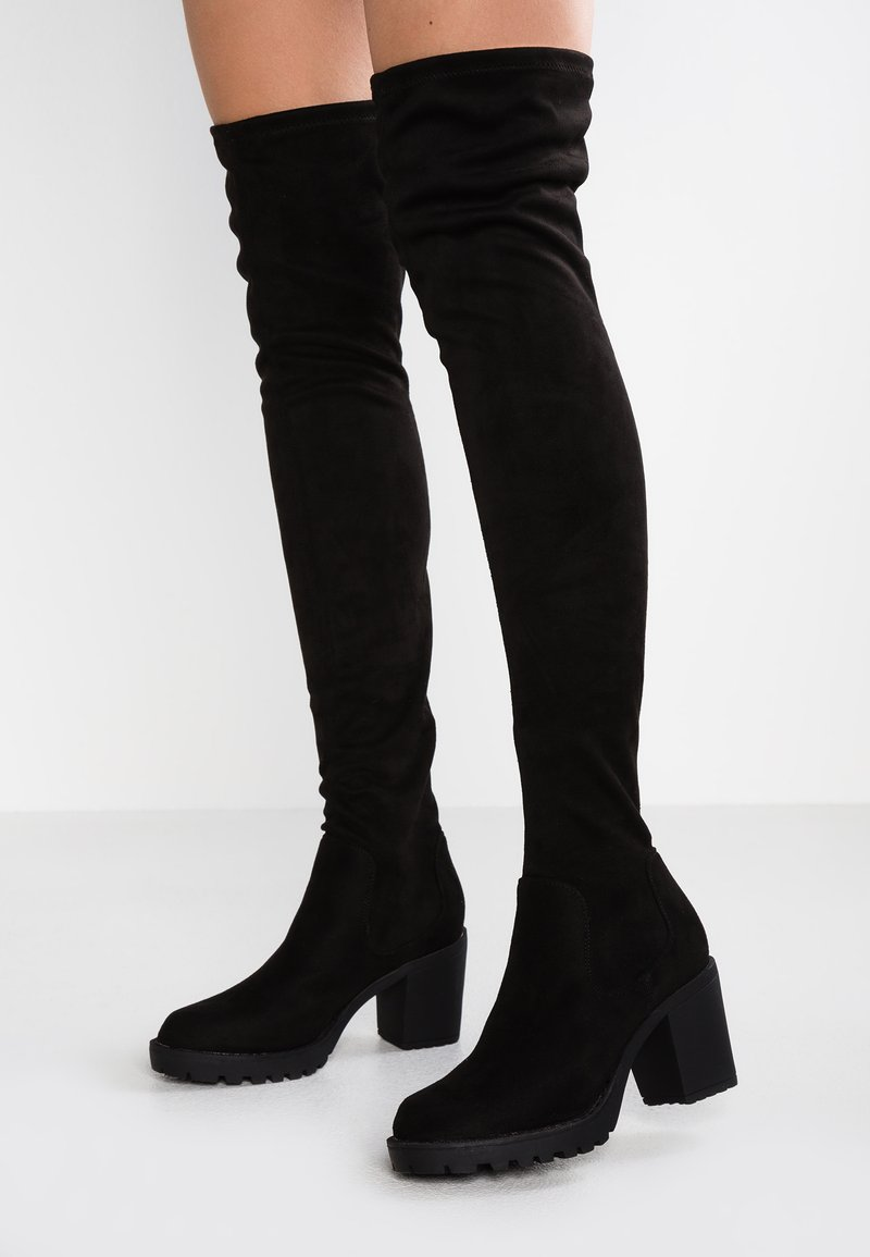 ONLY SHOES - ONLBARBARA LONG SHAFT - Kozačky nad kolena - black