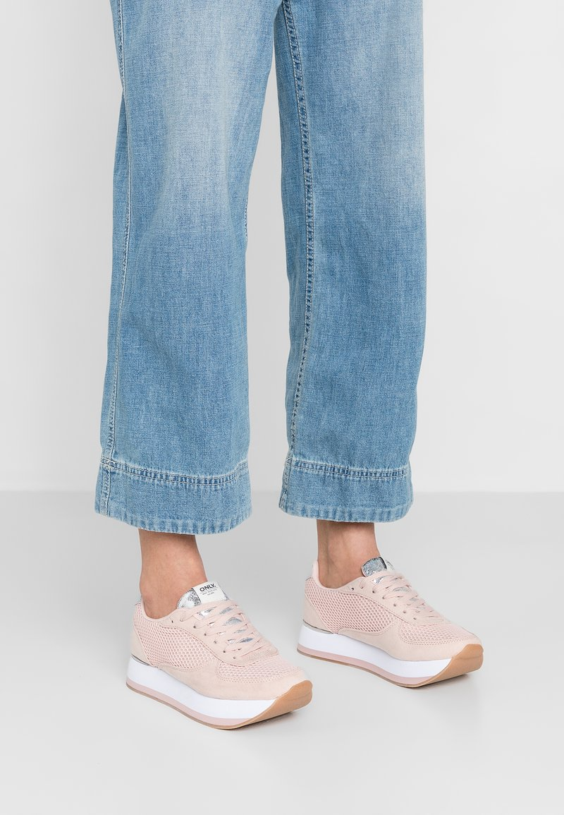 ONLY SHOES - ONLSMILLA ELEVATED - Sneaker low - light pink