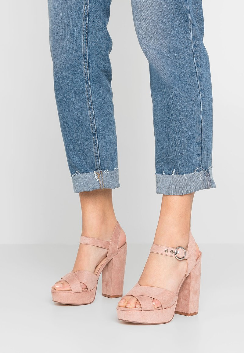 ONLY SHOES - ONLALLIE CROSSED - Sandali con tacco - light pink