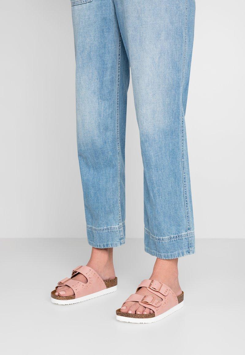 ONLY SHOES - ONLMATHILDA STUD SLIP ON - Mules - light pink