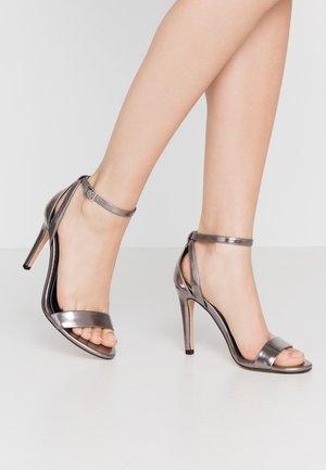 Sandalen met hoge hak - gunmetal