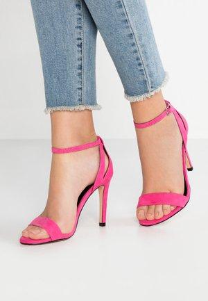 Sandály na vysokém podpatku - pink carnation