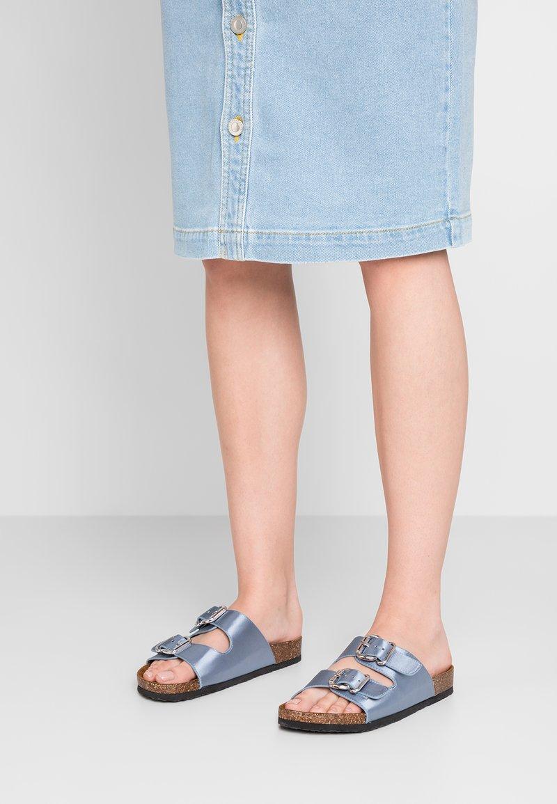 ONLY SHOES - ONLMATHILDA SLIP ON  - Mules - light blue