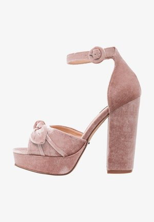ONLALLIE BOW - High heeled sandals - light pink