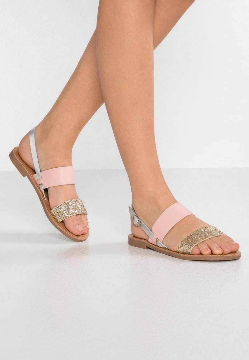 ONLY SHOES - Sandales - light pink/gold