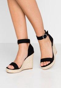 ONLY SHOES - Sandály na vysokém podpatku - black - 0