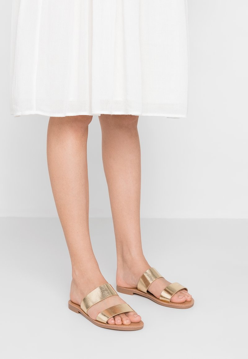 ONLY SHOES - Mules - gold