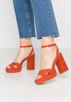 Sandalias de tacón - orange