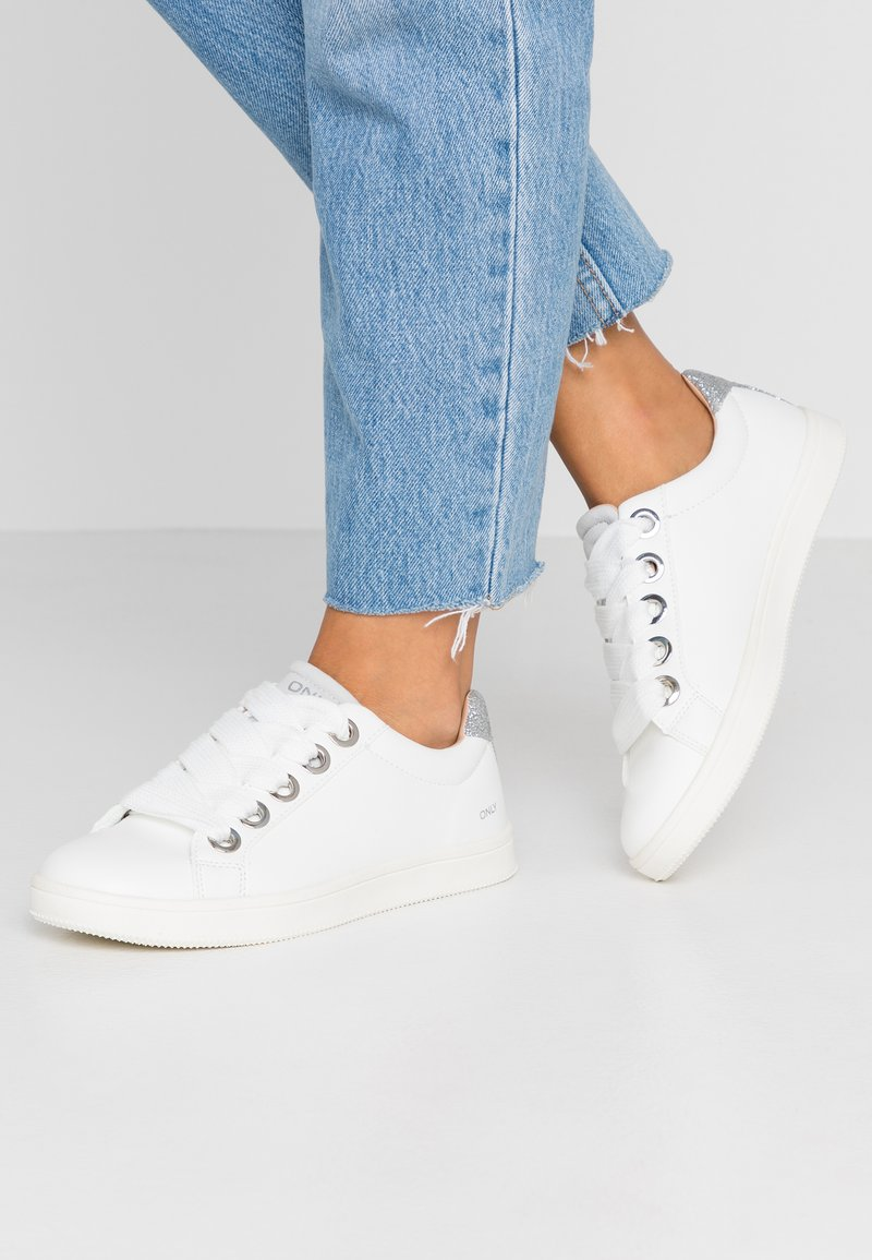 ONLY SHOES - ONLSHILO LACE  - Sneaker low - white