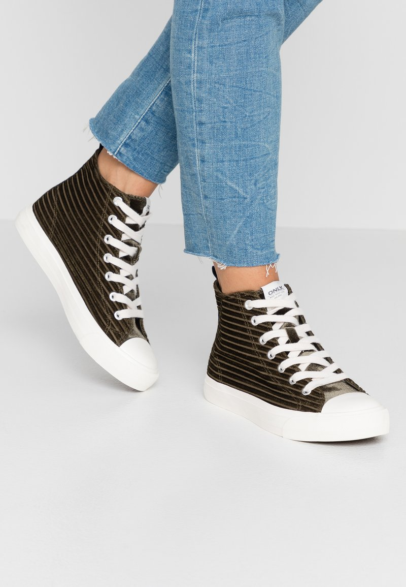 ONLY SHOES - ONLSALONE - High-top trainers - khaki