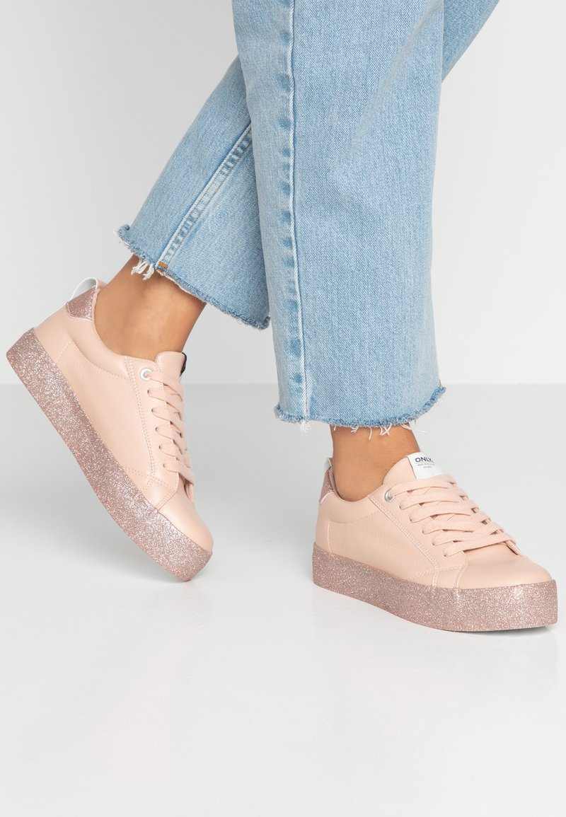 ONLY SHOES - ONLSHERBY GLITTER - Trainers - rose