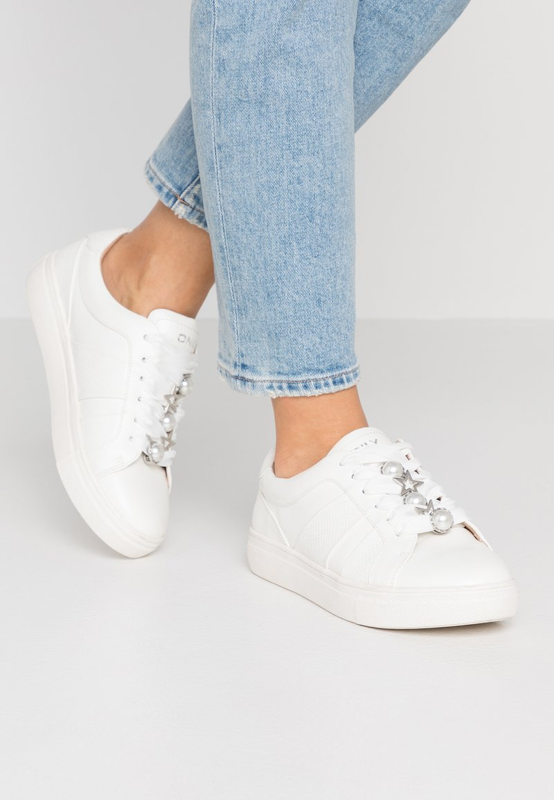 ONLY SHOES - ONLSAGE PANEL - Trainers - white
