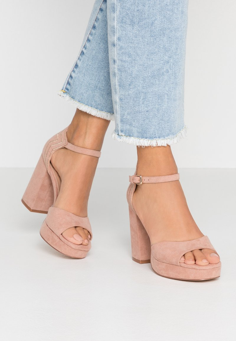 ONLY SHOES - ONLAERIN CAP - High heeled sandals - nude