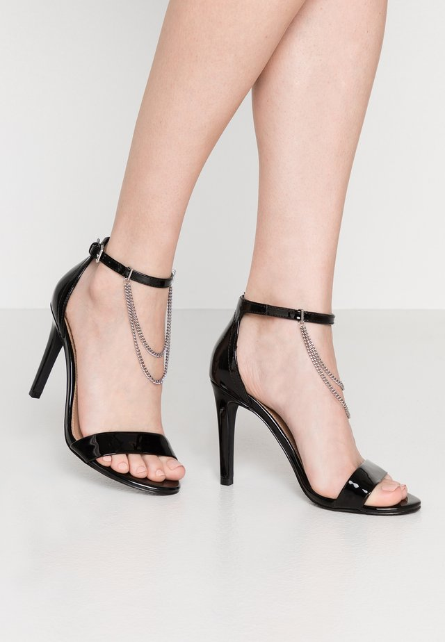 ONLAILA CHAIN  - High heeled sandals - black
