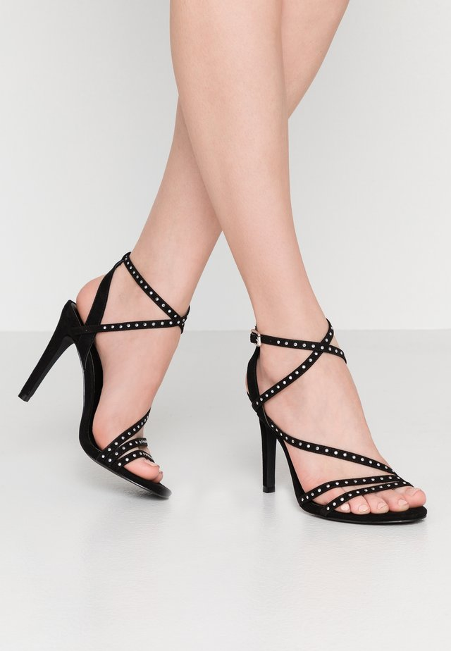 ONLAILA CROSS STUD - High heeled sandals - black
