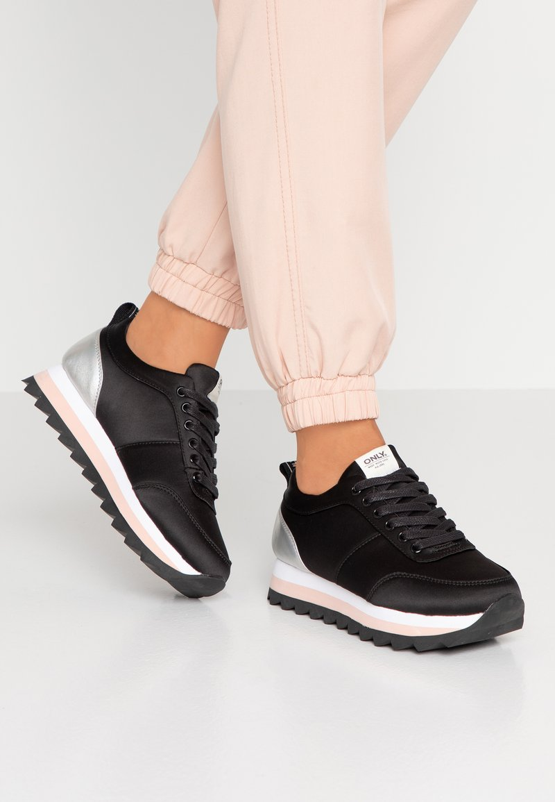 ONLY SHOES - ONLSMILLA ELEVATED MIX - Trainers - black