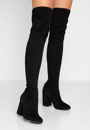 ONLBETTE LONG SHAFT BOOTIE - Boots med høye hæler - black