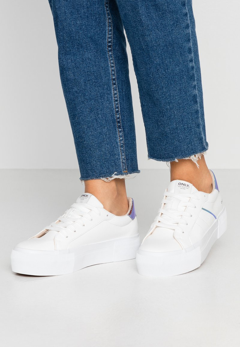 ONLY SHOES - ONLSAILOR - Trainers - white/blue