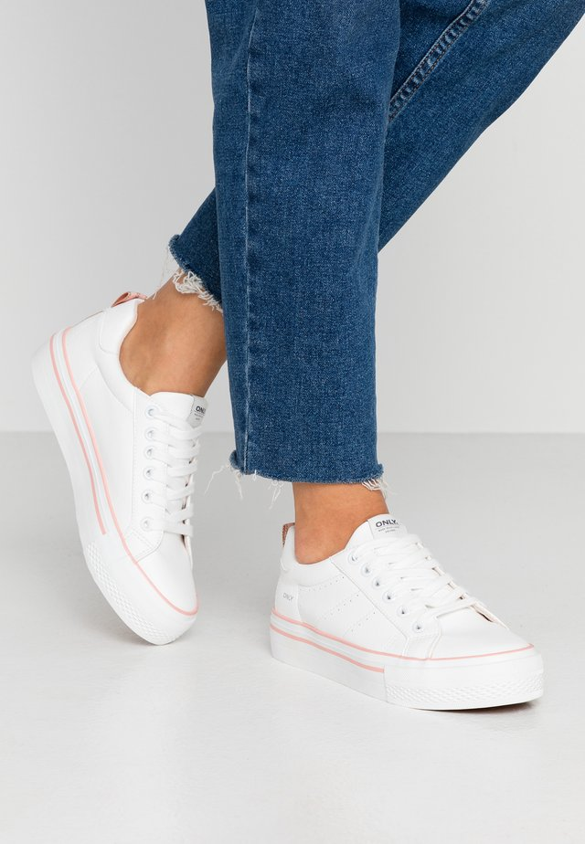ONLSAILOR DETAIL  - Sneakers - white/pink
