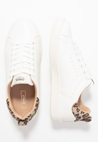 ONLY SHOES - ONLSHILO ANIMAL  - Sneakers laag - white/beige - 3