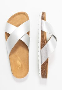 ONLY SHOES - ONLMADISON CROSS - Chaussons - silver - 3