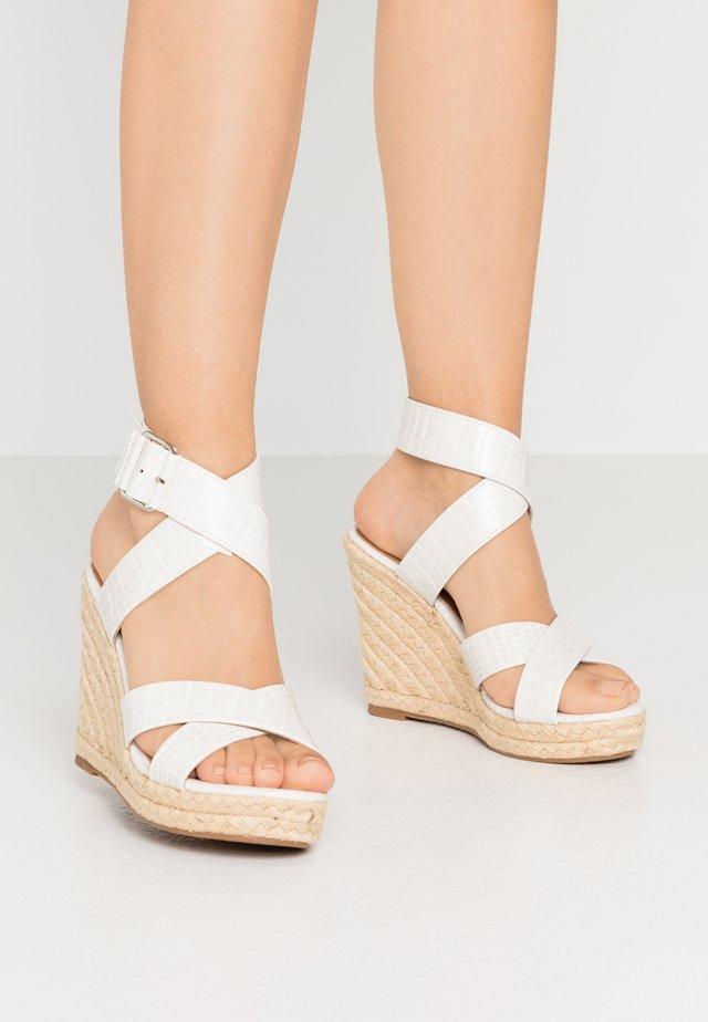 ONLAMELIA WRAP  - High heeled sandals - white