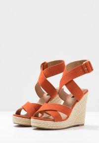 ONLY SHOES - ONLAMELIA WRAP  - Korolliset sandaalit - orange - 4