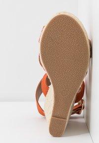 ONLY SHOES - ONLAMELIA WRAP  - Korolliset sandaalit - orange - 6