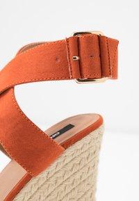 ONLY SHOES - ONLAMELIA WRAP  - Korolliset sandaalit - orange - 2