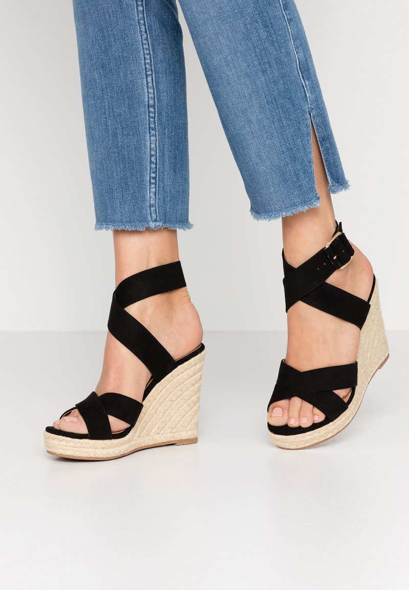 ONLY SHOES - ONLAMELIA WRAP  - Sandalen met hoge hak - black