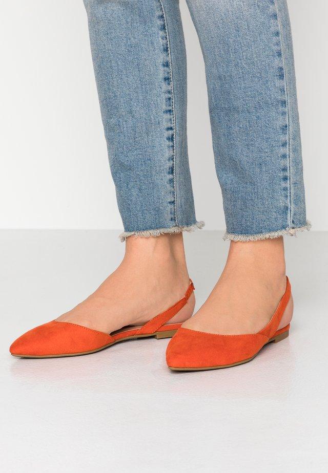 ONLANAS SLINGBACK HEEL - Baleriny - orange