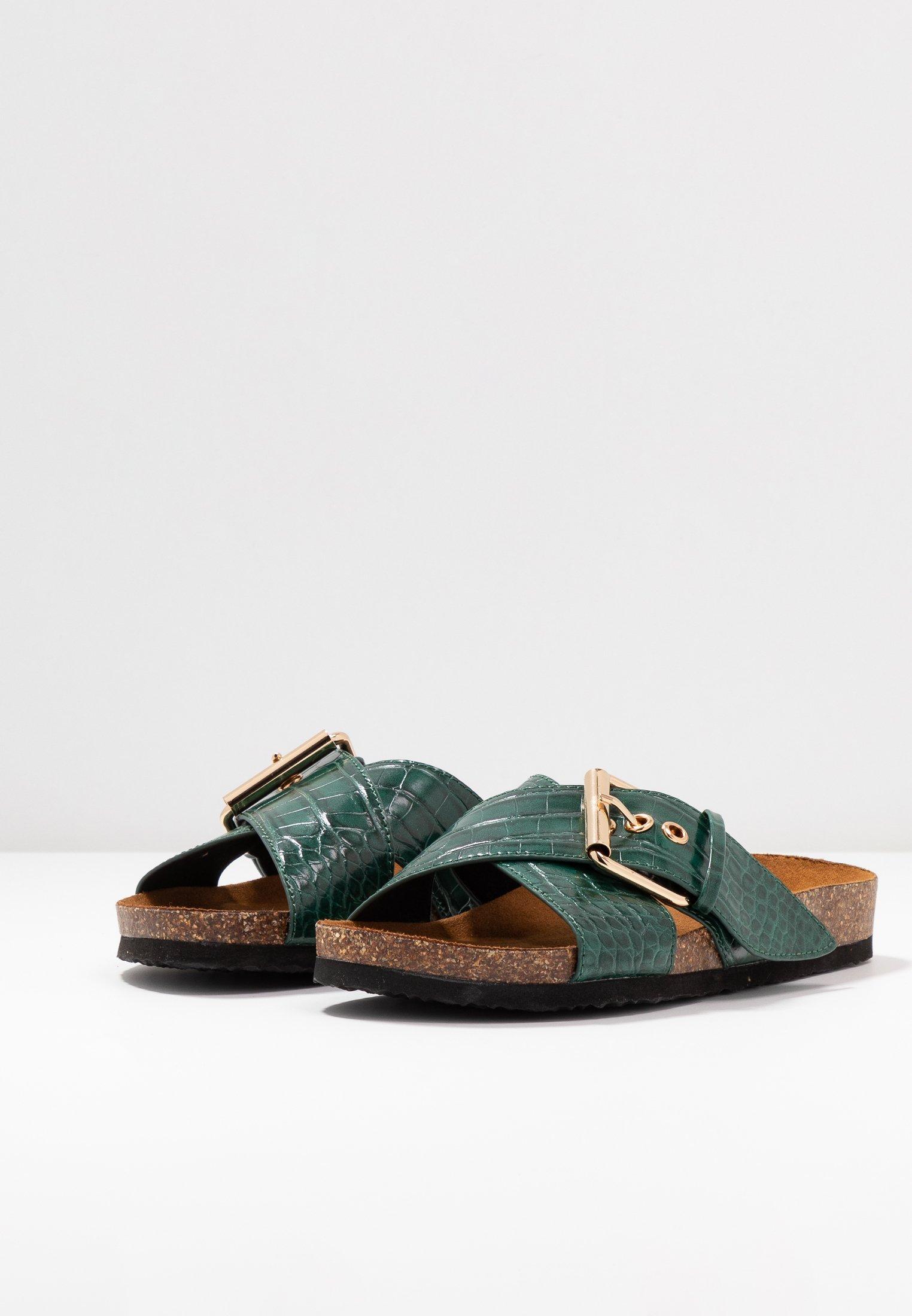 ONLY SHOES ONLMATHILDA SLIP ON - Slippers - dark green